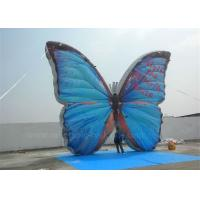 Wholesale Outdoor Advertising Inflatable Butterfly Beautiful Blue High Tear Strength from china suppliers