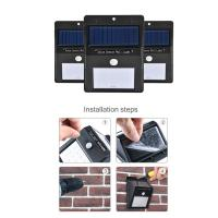 Wholesale Outdoor Rechargeable Waterproof 8 LED Solar Wall Light 180-200 Lumens from china suppliers