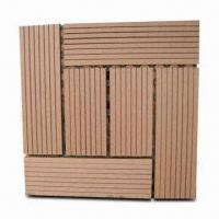 Wholesale 300 x 300mm WPC Flooring/Decking Tile, Water/Moisture-proof, Suitable for Outdoor Use from china suppliers