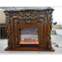 Wholesale Fake Flame LED European Electric Fireplace , Portable Antique Decorative Fireplace from china suppliers