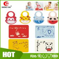 Wholesale Customized Animal Printed Baby Tablemat Silicone Bibs For Babies from china suppliers