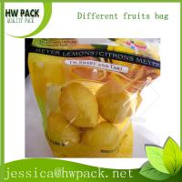 Wholesale fresh lemon protection packaging zipper perforated bag from china suppliers