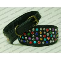 Quality Chinese wholesale leather diamante whippet collars for sale