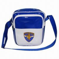 Wholesale PVC Leather Shoulder Bag/Satchel Bag, Sized 24 x 14 x 29cm, 210D Polyester Lining, Fashionable Style from china suppliers