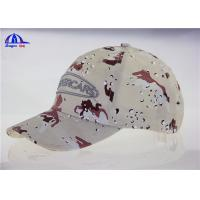 Wholesale 6 Panel Embroidery  Camo Baseball Caps , Custom Cotton Baseball Hats for College from china suppliers