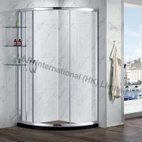 Wholesale Tempered Glass Round Sliding door Shower Enclosure with Shelf from china suppliers