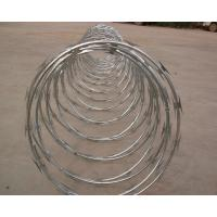 Wholesale High Protection Galvanized Barbed Wire Coil , Spiral Barbed Wire Fence BTO-18 from china suppliers