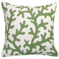 Wholesale Green coral Linen Throw Pillows / large home decor Throw Pillows from china suppliers