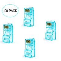 Quality Networking Cable OEM 8P8C CAT5E Ethernet Cable Plugs with transparent for sale