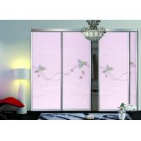 Wholesale Aluminium Frame Built In Wardrobes With Sliding Doors , Glass Sliding Wardrobe Doors from china suppliers