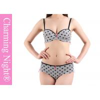 Wholesale Printed Heart Mature Ladies Sexy Bra Sets With Matched Brief Panties from china suppliers