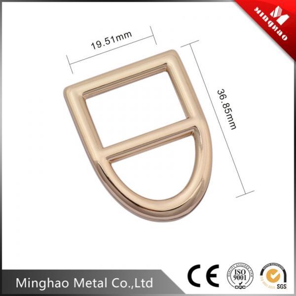 D shape metal adjustable strap buckle,bag zinc alloy square buckle 36.85*19.51mm