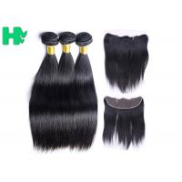 Buy cheap 13*4 Straight Frontal Peruvian Human Hair Lace Closure / Lace Front Closure Piece from wholesalers