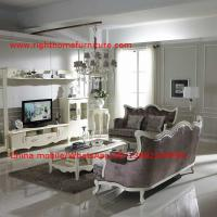 Wholesale Neoclassical Living Room Furniture by Pure white Wall Unit and Coffee table with Luxury Sofa set from china suppliers