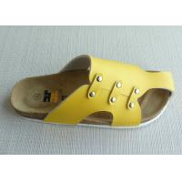 Wholesale Summer Cork Slippers Yellow  from china suppliers