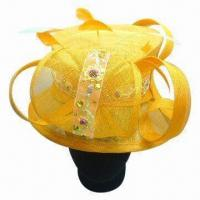 China Women's Sinamay Festival Hat with Flower, OEM Orders Welcomed on sale