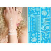 Wholesale Temporary White Henna Hand Tattoos Designs Stickers Removable Water Transfer from china suppliers