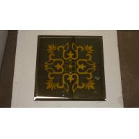 Wholesale screen printing mirror yellow flower mirror decorative mirror from china suppliers