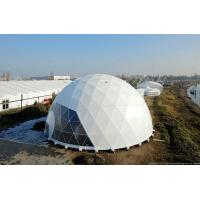 Wholesale Poweder Coated Diameter 20m Geodestic Large Dome Tents With Big Steel Tubes from china suppliers
