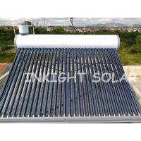 Wholesale White Color Steel Solar Coil Water Heater 30 Tubes High Density Integral PU Insulation from china suppliers