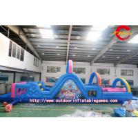 Wholesale Blue Outdoor Indoor Obstacle Course Inflatable For Competitive Game from china suppliers