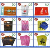 Wholesale Factory Wholesale Glossy LDPE Die Cut Handle Plastic Retail Merchandise Bags from china suppliers