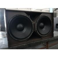 Wholesale 21 Inches subwoofer line array box large woofer speaker 3x 1200 w unit power black grille acoustic foam inside from china suppliers