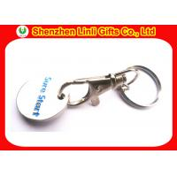 Wholesale Iron customs metal engraved keychains LL-HK1004281 token coin keyring from china suppliers