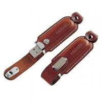 Wholesale OEM leather USB flash disk 1GB 2GB 4GB 8GB 16GB 32GB with  embossed or printing logo from china suppliers