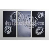 Wholesale Free shipping 3 set Hot Sell Hand Painted Abstract oil paintings Home Decorative Wall art Stretched oil paintings op405 from china suppliers