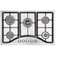 Wholesale Built In Stainless Steel 5 Burner Gas Hob , 580mm Five Burner Gas Cooktop from china suppliers