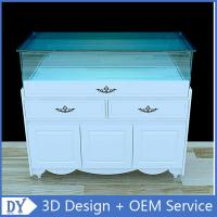 Wholesale Nice Matte White Glass Storage Wooden Display Plinth With Tempered Glass Covered from china suppliers