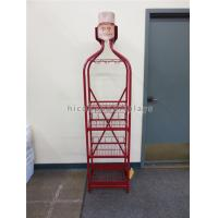 Wholesale Red Metal Pop Wine Mugs Retail Free Standing Glass Cup Display Rack Multi- Layer from china suppliers