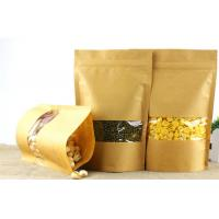 Wholesale Clear Doypack Candy Kraft Paper Zipper Bags with Window from china suppliers