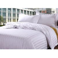 Wholesale 250TC Colorful School Hotel Collection Bedding Sets Queen Size Plain Stripe Design from china suppliers