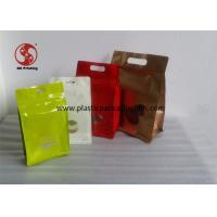 Wholesale Resealable Aluminum Foil Ziplock Bag , Glossy Finishing Foil Lined Food Bags With Window from china suppliers
