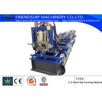 Wholesale Hydraulic Punching and cutting C Z Purlin Roll Forming Machine With 15m/min from china suppliers