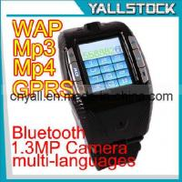 Wholesale F3 Wrist Watch Cell Phone With Bluetooth MP3 MP4 Player -E02055 from china suppliers