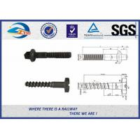 Wholesale Plain Driving Railroad Spikes Screws For Fasten Sole Plates To Wooden Sleepers from china suppliers