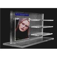 Wholesale Recycled Acrylic Cosmetic Display Floor Stand Transparent With Poster Holder from china suppliers