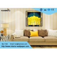Wholesale Eco - friendly Vinyl Stripes Modern Removable Wallpaper for Living Room from china suppliers
