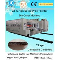 Wholesale Remote Control Flexo Printer Slotter Machine With Lead Edge Feeder 150 Pieces/Min from china suppliers