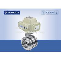 Buy cheap Stainless Steel Sanitary Level Butterfly Valves Ball Type With Electic Actuator from wholesalers