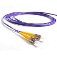 Wholesale ST / PC - ST / PC OM2 Fiber Optic Patch Cord 50/125 Duplex 5mtrs purple color from china suppliers