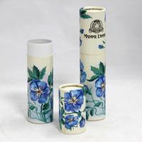 Wholesale Luxury Package Blue Flower Design Hot Paper Cans Packaging Inside With Plastic Jar from china suppliers