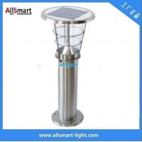 Wholesale H60cm 24LED 4W 240LM Stainless steel solar garden lawn lights for courtyard from china suppliers