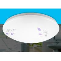 Wholesale Pure White Acrylic Ceiling Lights / Ceiling Mounted Light With Purple Arabesquitic Pattern from china suppliers