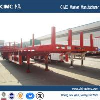 Wholesale tri-axle 60ft flatbed trailer 50 tons with steel tube posts from china suppliers