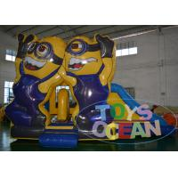 China Exhibition Fun Minions Inflatable Bouncer Combo Commercial Digital Printing on sale