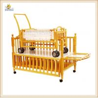 Wholesale Nature Color Adjustable Wooden Baby Cribs And Small Cradle Inside from china suppliers